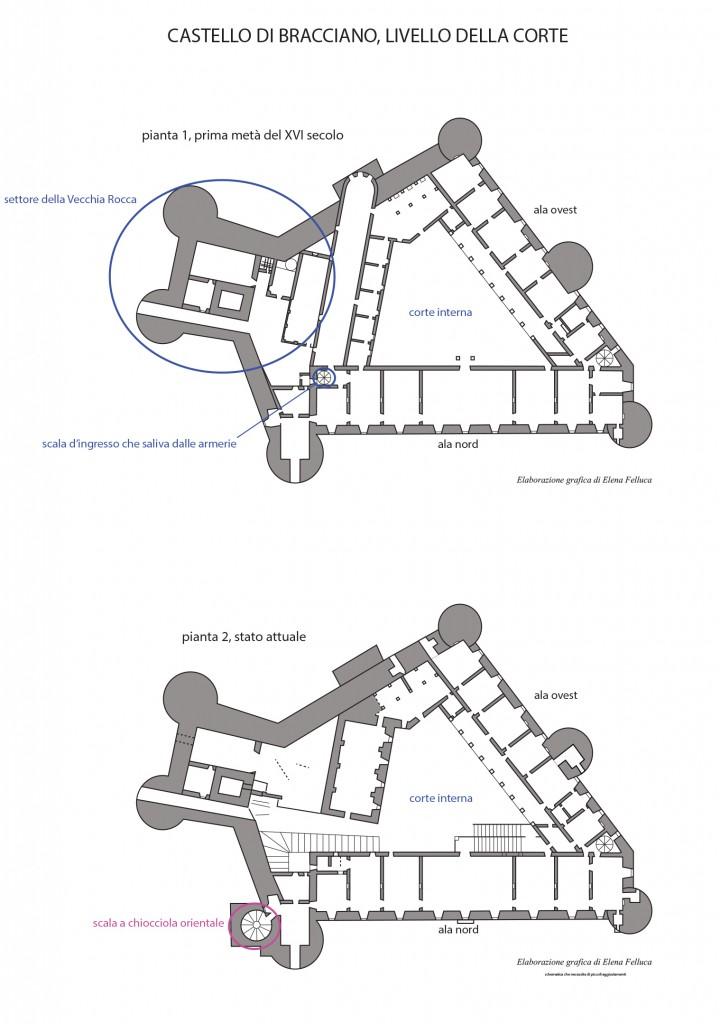 Castello di bracciano differenze architettoniche lago for Planimetrie della cabina del lago con soppalco