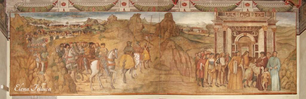 Affresco attribuito ad Antoniazzo Romano e collaboratori, fine XV secolo.