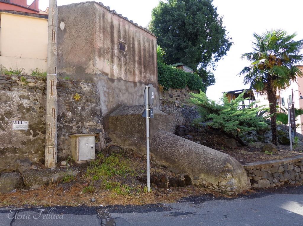 Trevignano Romano, acquedotto Paolo e diramazione per rifornire il fontanile.