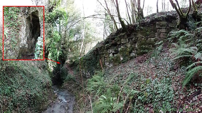 Bracciano, opera di regimazione e imbrigliamento di epoca etrusca. Bracciano, Castel Giuliano.