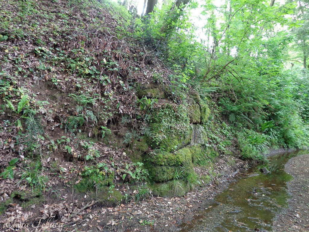 Bracciano, Fosso di Cupinaio, resti di un ponte di attraversamento