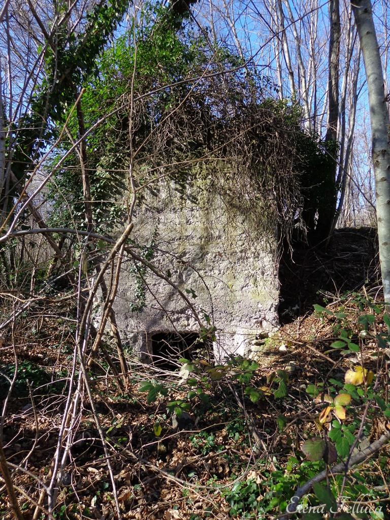 """Bracciano (RM), Macchia della Fiora, ingresso cisterna a """"L""""."""