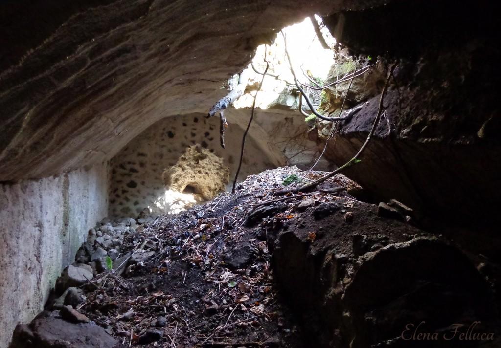 Bracciano (RM), Macchia della Fiora, cisterna, particolare interno.