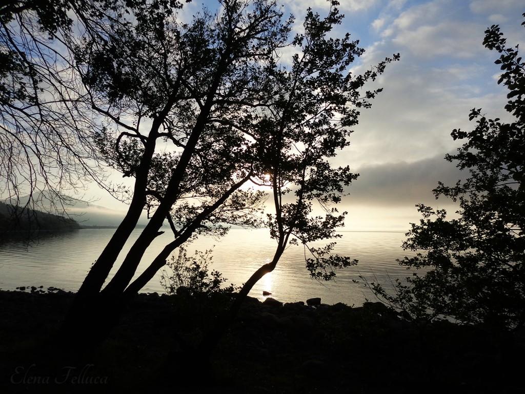 Lago Sabatino, veduta da Bracciano. Aprile 2017.