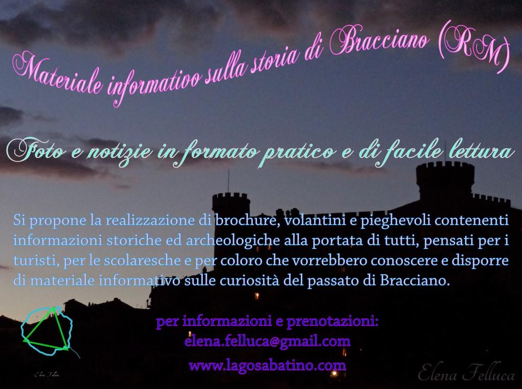 materiale informativo sulla storia di Bracciano (RM)