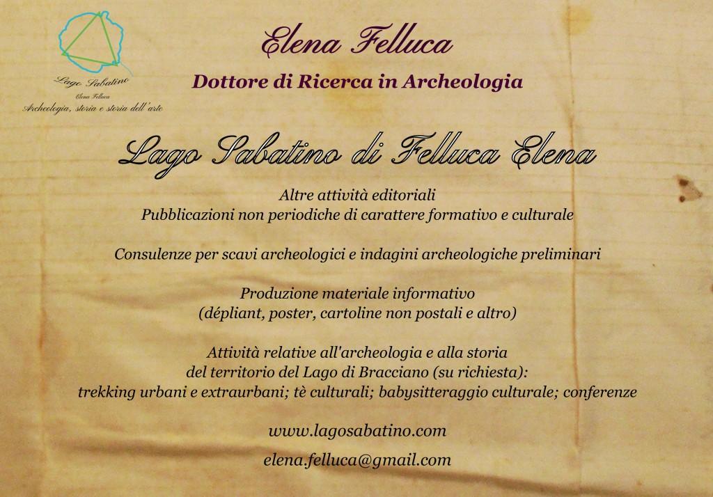 Offerta culturale: Lago Sabatino di Felluca Elena